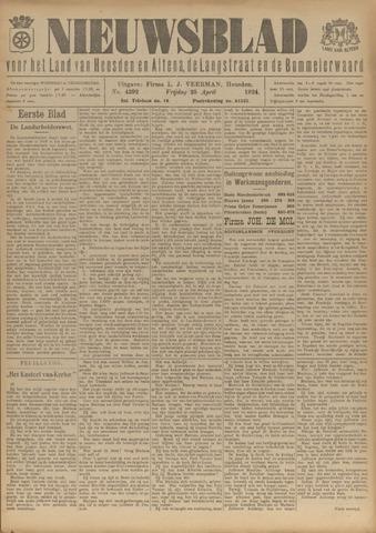 Nieuwsblad het land van Heusden en Altena de Langstraat en de Bommelerwaard 1924-04-25