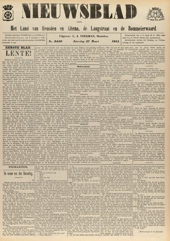 Nieuwsblad het land van Heusden en Altena de Langstraat en de Bommelerwaard 1915-03-27