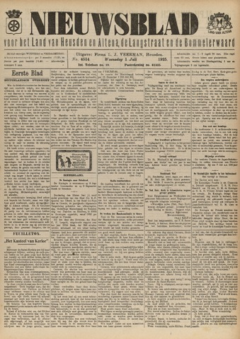 Nieuwsblad het land van Heusden en Altena de Langstraat en de Bommelerwaard 1925-07-01