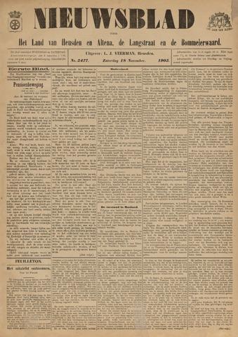 Nieuwsblad het land van Heusden en Altena de Langstraat en de Bommelerwaard 1905-11-18