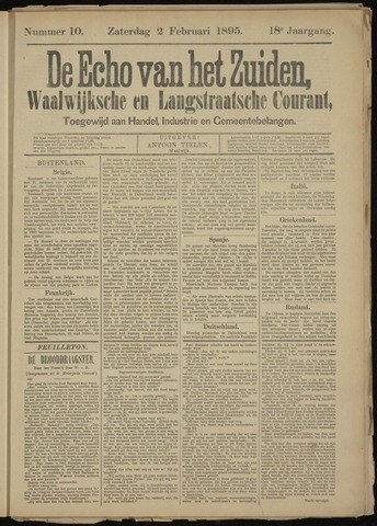 Echo van het Zuiden 1895-02-03