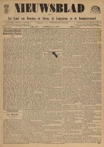 Nieuwsblad het land van Heusden en Altena de Langstraat en de Bommelerwaard 1905-11-04