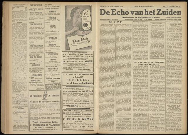 Echo van het Zuiden 1946-11-26