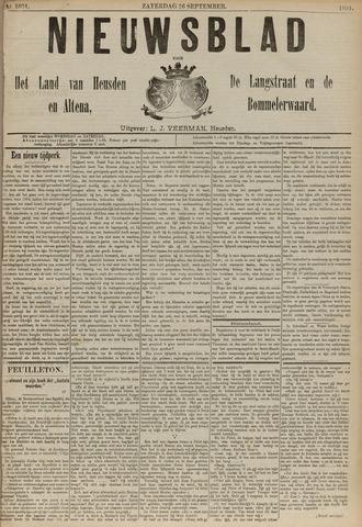Nieuwsblad het land van Heusden en Altena de Langstraat en de Bommelerwaard 1891-09-26