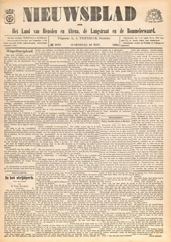Nieuwsblad het land van Heusden en Altena de Langstraat en de Bommelerwaard 1904-11-30