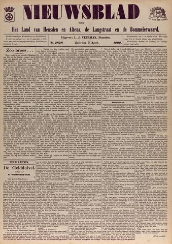 Nieuwsblad het land van Heusden en Altena de Langstraat en de Bommelerwaard 1909-04-03