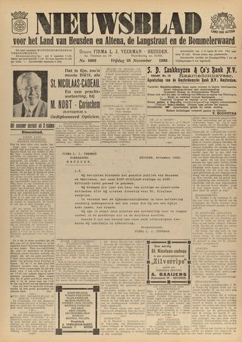 Nieuwsblad het land van Heusden en Altena de Langstraat en de Bommelerwaard 1932-11-25
