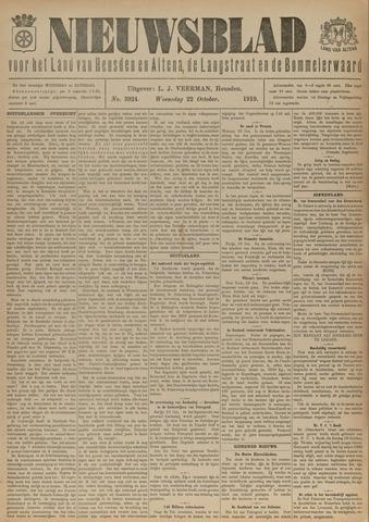 Nieuwsblad het land van Heusden en Altena de Langstraat en de Bommelerwaard 1919-10-22