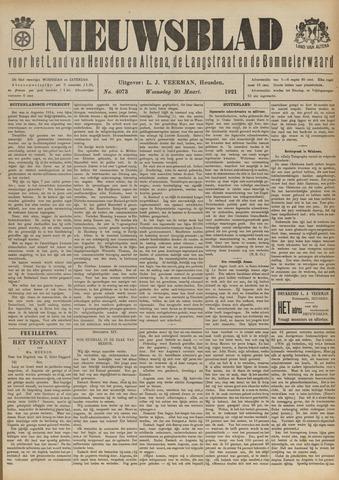 Nieuwsblad het land van Heusden en Altena de Langstraat en de Bommelerwaard 1921-03-30