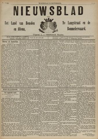 Nieuwsblad het land van Heusden en Altena de Langstraat en de Bommelerwaard 1891-11-11