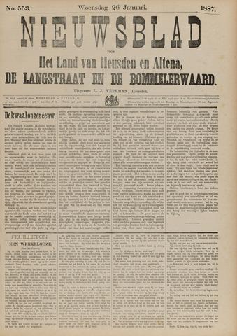 Nieuwsblad het land van Heusden en Altena de Langstraat en de Bommelerwaard 1887-01-26