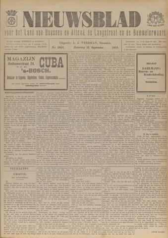 Nieuwsblad het land van Heusden en Altena de Langstraat en de Bommelerwaard 1918-09-21