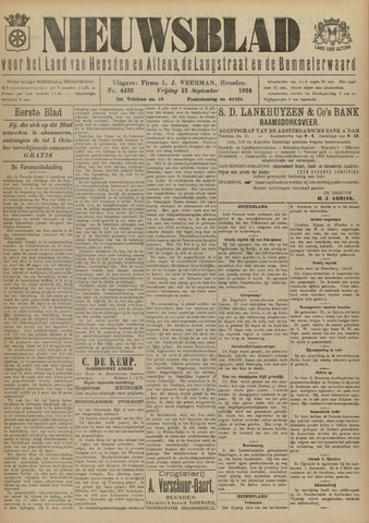 Nieuwsblad het land van Heusden en Altena de Langstraat en de Bommelerwaard 1924-09-12