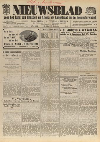 Nieuwsblad het land van Heusden en Altena de Langstraat en de Bommelerwaard 1941-10-17