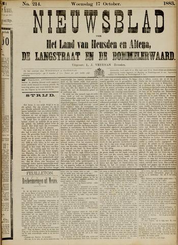 Nieuwsblad het land van Heusden en Altena de Langstraat en de Bommelerwaard 1883-10-17