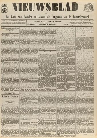 Nieuwsblad het land van Heusden en Altena de Langstraat en de Bommelerwaard 1913-08-09