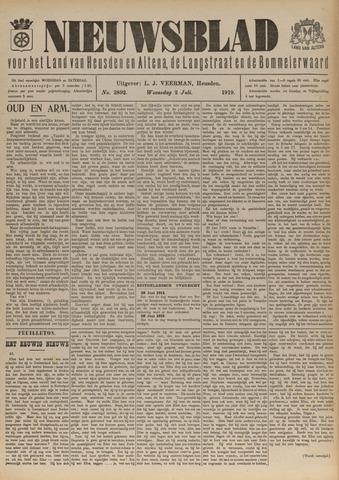 Nieuwsblad het land van Heusden en Altena de Langstraat en de Bommelerwaard 1919-07-02