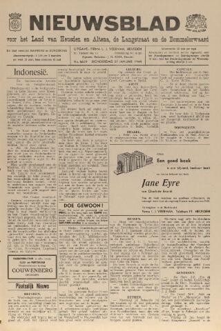 Nieuwsblad het land van Heusden en Altena de Langstraat en de Bommelerwaard 1949-01-27
