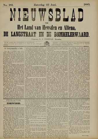 Nieuwsblad het land van Heusden en Altena de Langstraat en de Bommelerwaard 1883-06-23