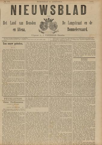 Nieuwsblad het land van Heusden en Altena de Langstraat en de Bommelerwaard 1887-08-17
