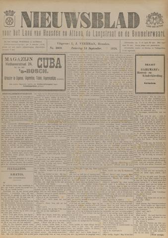 Nieuwsblad het land van Heusden en Altena de Langstraat en de Bommelerwaard 1918-09-14