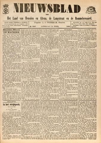 Nieuwsblad het land van Heusden en Altena de Langstraat en de Bommelerwaard 1905-02-11