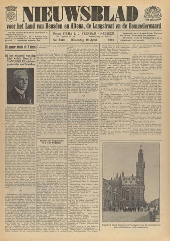 Nieuwsblad het land van Heusden en Altena de Langstraat en de Bommelerwaard 1934-04-18