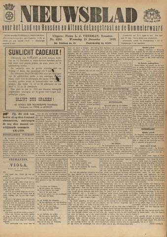Nieuwsblad het land van Heusden en Altena de Langstraat en de Bommelerwaard 1922-12-13