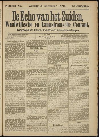 Echo van het Zuiden 1889-11-03