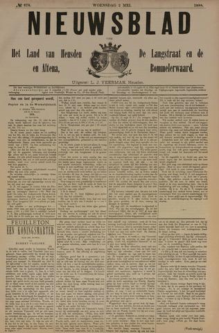 Nieuwsblad het land van Heusden en Altena de Langstraat en de Bommelerwaard 1888-05-02