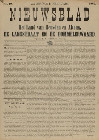 Nieuwsblad het land van Heusden en Altena de Langstraat en de Bommelerwaard 1882-02-11
