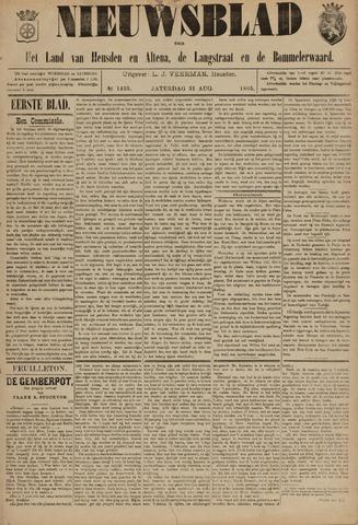 Nieuwsblad het land van Heusden en Altena de Langstraat en de Bommelerwaard 1895-08-31