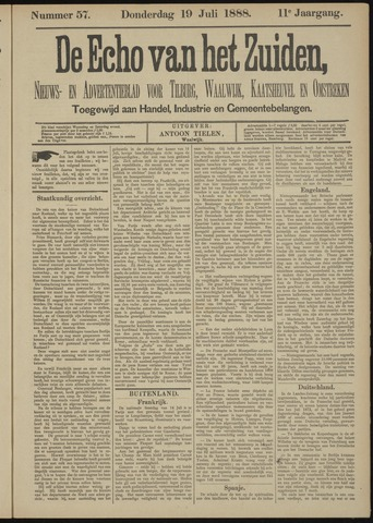 Echo van het Zuiden 1888-07-19