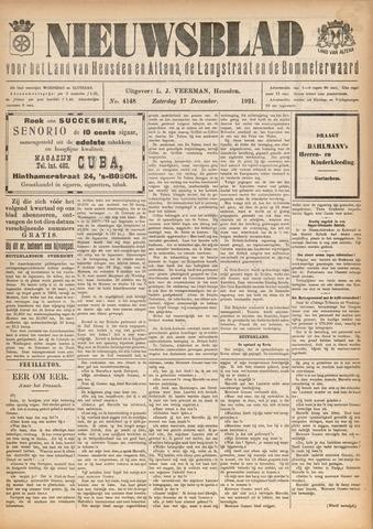 Nieuwsblad het land van Heusden en Altena de Langstraat en de Bommelerwaard 1921-12-17