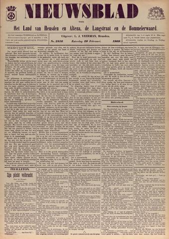Nieuwsblad het land van Heusden en Altena de Langstraat en de Bommelerwaard 1909-02-20