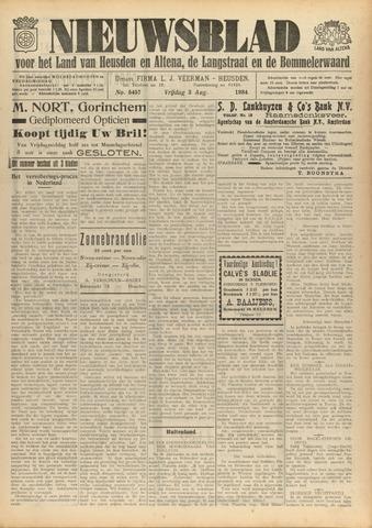 Nieuwsblad het land van Heusden en Altena de Langstraat en de Bommelerwaard 1934-08-03