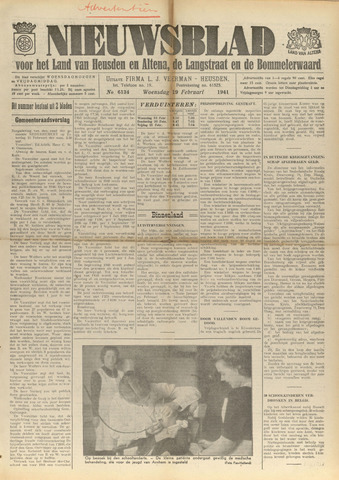 Nieuwsblad het land van Heusden en Altena de Langstraat en de Bommelerwaard 1941-02-19