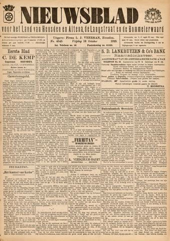Nieuwsblad het land van Heusden en Altena de Langstraat en de Bommelerwaard 1925-10-16