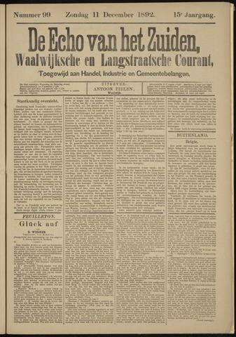Echo van het Zuiden 1892-12-11