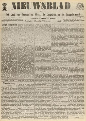 Nieuwsblad het land van Heusden en Altena de Langstraat en de Bommelerwaard 1913-09-17