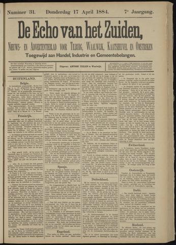 Echo van het Zuiden 1884-04-17