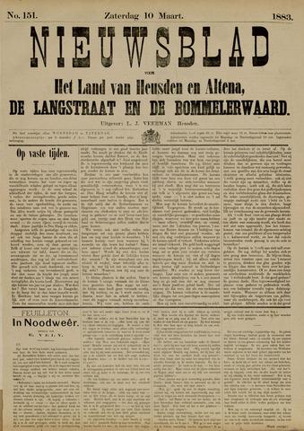 Nieuwsblad het land van Heusden en Altena de Langstraat en de Bommelerwaard 1883-03-10