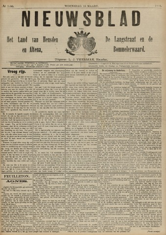 Nieuwsblad het land van Heusden en Altena de Langstraat en de Bommelerwaard 1892-03-16