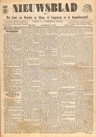Nieuwsblad het land van Heusden en Altena de Langstraat en de Bommelerwaard 1904-11-05