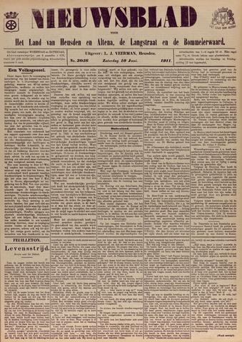 Nieuwsblad het land van Heusden en Altena de Langstraat en de Bommelerwaard 1911-06-10