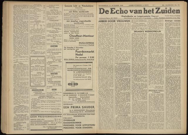Echo van het Zuiden 1946-10-31