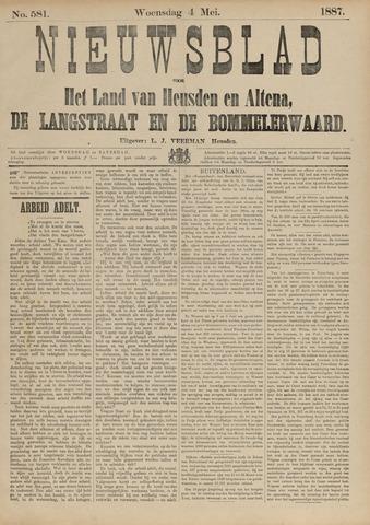 Nieuwsblad het land van Heusden en Altena de Langstraat en de Bommelerwaard 1887-05-01