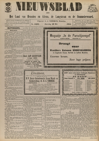 Nieuwsblad het land van Heusden en Altena de Langstraat en de Bommelerwaard 1915-05-29