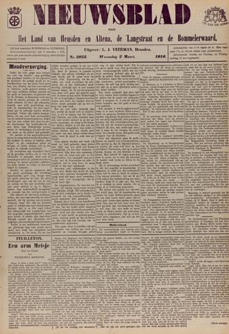 Nieuwsblad het land van Heusden en Altena de Langstraat en de Bommelerwaard 1910-03-02