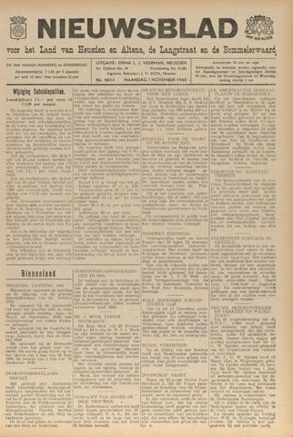 Nieuwsblad het land van Heusden en Altena de Langstraat en de Bommelerwaard 1948-11-01